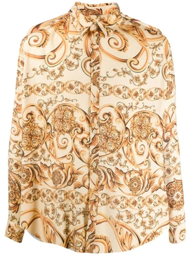 Martine Rose - Pleated Baroque Print Shirt Yellow - Men