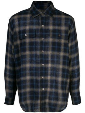 Lost Daze - 'be Careful What You Wish For' Flannel Shirt Blue - Men