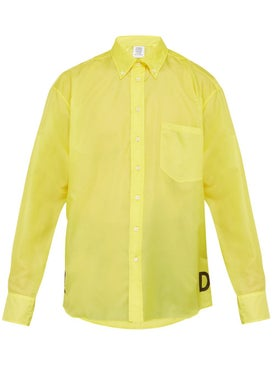 Vetements - Technical Snake Print Shirt Yellow - Shirts