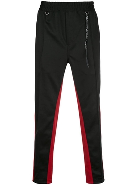 Black and red stripe sweatpants