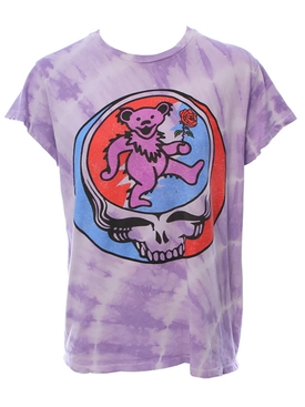 Lavender tie dye grateful dead t-shirt