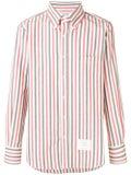 Thom Browne - University Stripe Herringbone Shirt Red - Men