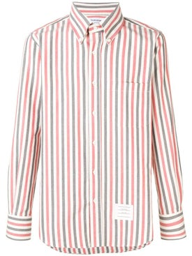 Thom Browne - University Stripe Herringbone Shirt Red - Men