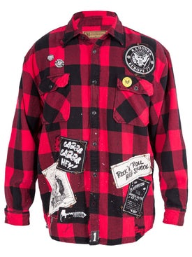 Madeworn - The Ramones Plaid Shirt - Overshirts
