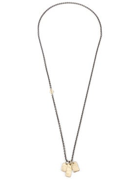 M. Cohen - Gold Tag Oxidized Chain Necklace - Men