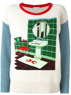 Olympia Le-tan - Felt Bathroom Patch Jumper - Women