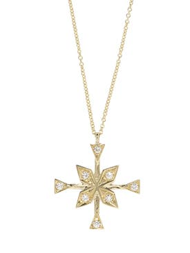 Azlee - Compass Diamond Necklace - Women