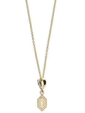 Azlee - Small Diamond Necklace With Chain - Women