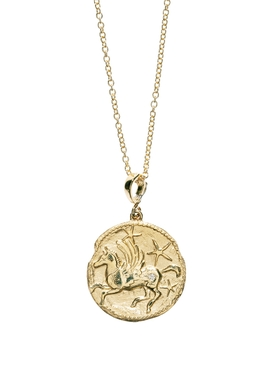 LIMITED EDITION LARGE PEGASUS DIAMOND COIN NECKLACE