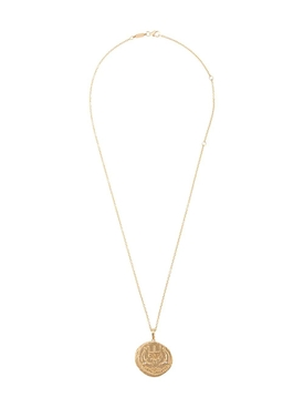 Azlee - 14kt Gold Sea Coin Diamond Necklace - Women
