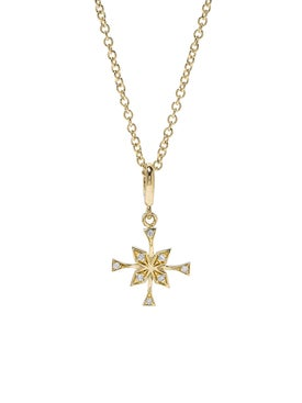 Azlee - Xsmall Compass Diamond Necklace - Women