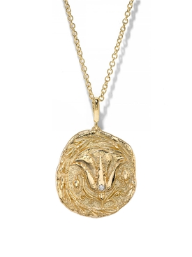 LARGE OF THE EARTH DIAMOND COIN NECKLACE