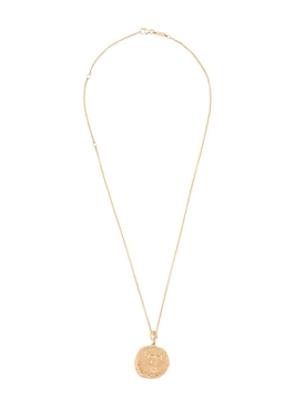 Karkinos 18kt gold diamond coin necklace