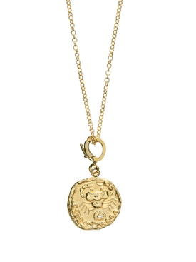 KARKINOS SMALL DIAMOND COIN NEKLACE