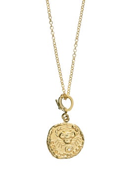 Azlee - Karkinos Small Diamond Coin Neklace - Women
