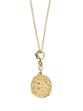 ZODIAC SMALL DIAMOND COIN NEKLACE