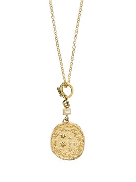 Azlee - Zodiac Small Diamond Coin Neklace - Women