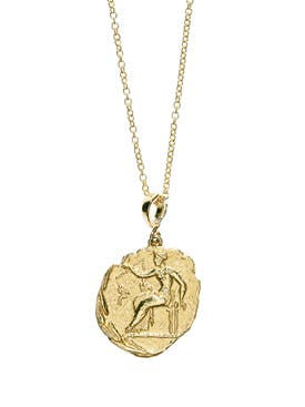 Azlee - Limited Edition Aphrodite Large Diamond Coin Necklace - Women