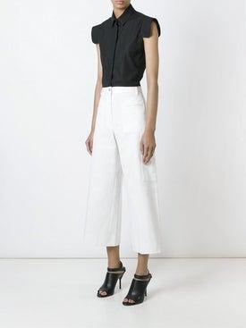 Maison Margiela - Cropped Flared Trousers - Women