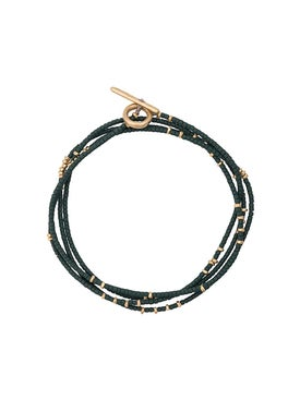 M. Cohen - Green And Gold Detail Bracelet - Men