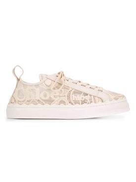 Beige lace sneakers