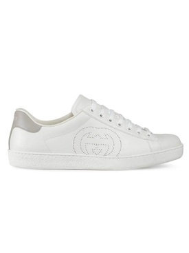 Perforated logo sneakers WHITE
