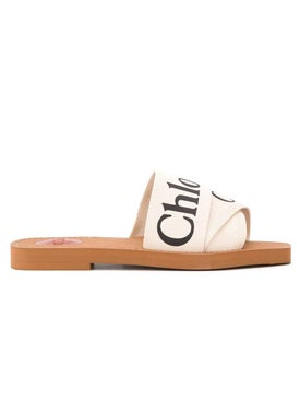 Chloé - Logo Print Slide Sandals - Women