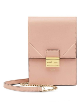Vertical wallet on chain bag PALE ROSE