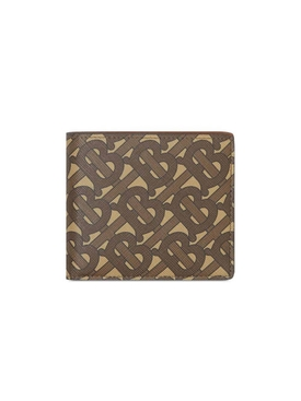 TB monogram print wallet