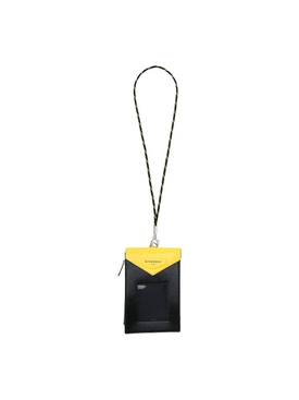 Black and yellow neck pouch