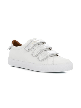 White and silver urban street sneakers