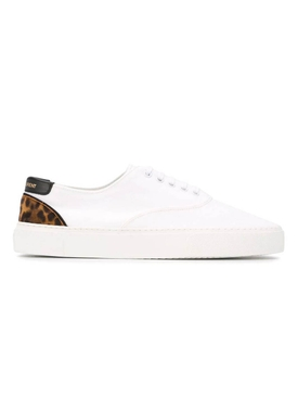 Low-top leopard detail sneakers