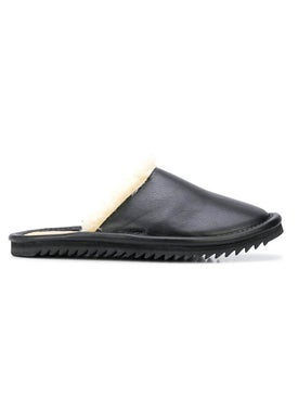 Julien David - Black Leather Slippers - Men