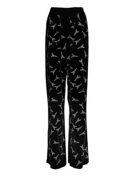Embellished Eiffel Tower print pants
