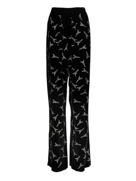 Balenciaga - Embellished Eiffel Tower Print Pants - Women