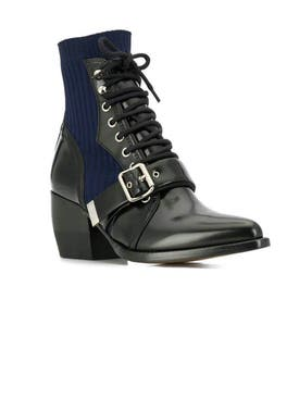 Chloé - Rylee Sock Ankle Boots Black - Women