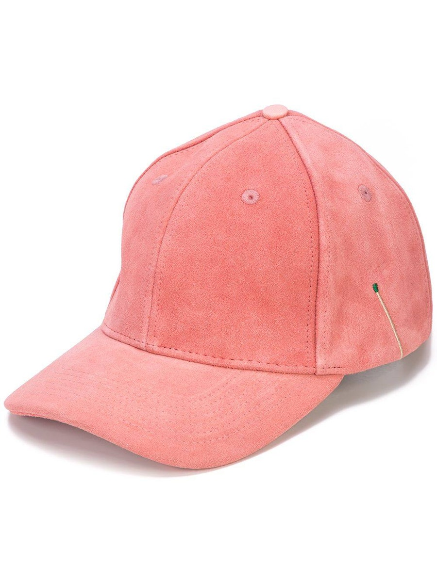 Nick Fouquet Accessories pink suede baseball cap