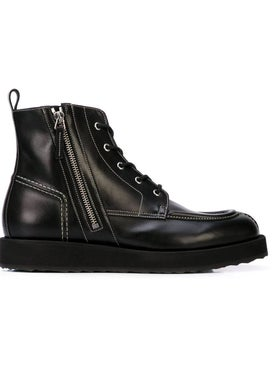 Pierre Hardy - Up State Leather Boots Black Leather - Men