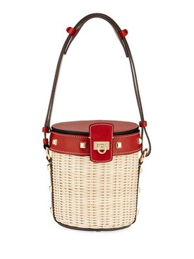 Salvatore Ferragamo - Gancini Wicker Bucket Bag - Women