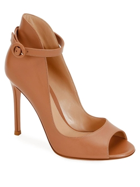 Peep-toe ankle strap pumps NEUTRAL