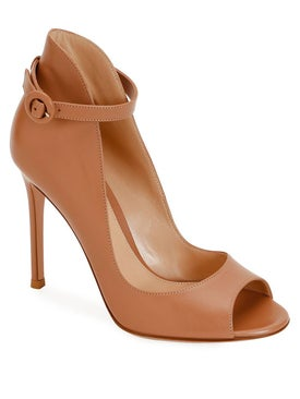 Gianvito Rossi - Peep-toe Ankle Strap Pumps Neutral - High Sandals