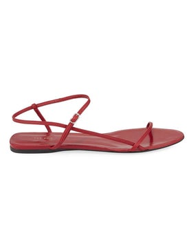 The Row - Flat Bare Sandal Red - Women