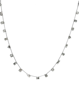 Mix-shape Rough Diamond Necklace