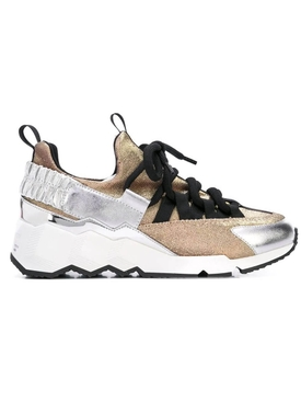 Metallic Trek Comet color-block sneakers