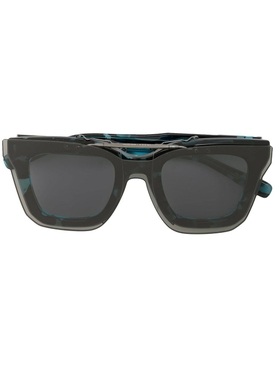 Black and blue tortoiseshell sunglasses