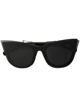 Sacai - Black Cat Eye Double Lens Sunglasses - Women
