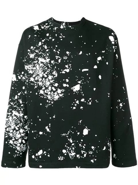 splatter print sweatshirt
