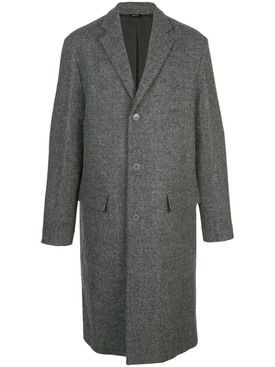 wool single-breasted coat GREY
