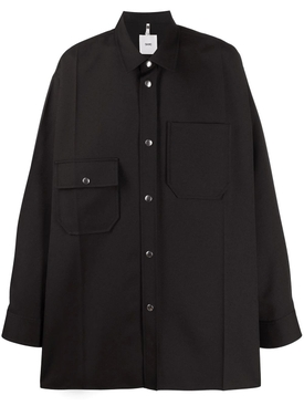 Oversized button-down shirt BLACK