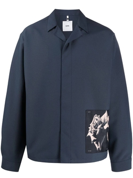 Oamc - Oversized S-34 Shirt Jacket Charcoal Blue - Men